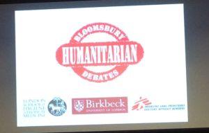 humanitarian debates holding slide cropped