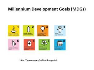 MDGs slide